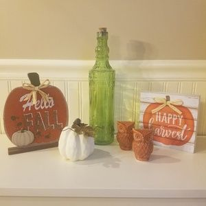 Other - Fall Decor 6 Piece Set